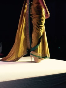 How not to drape a sari